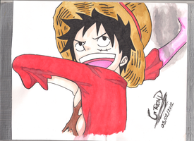 Luffy-Gear Second Post skiptime by GrendM