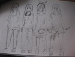 Yasashi Outfits by TheAngelCookie