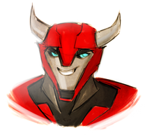 Quick Cliffjumper sketch by Crococheese