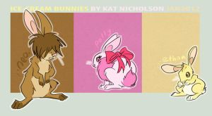 Ice-cream Bunnies by Kat-Nicholson