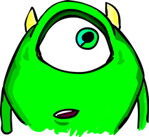 GRAPHICS TABLET TEST - Mike Wazowski by KanesTheName