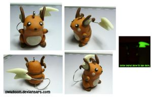 Small Raichu Charm by Swadloon