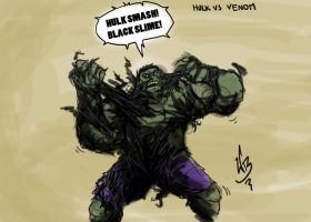 Hulk vs Venom by williambang