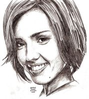 JESSICA ALBA in 45 mins by MalevolentNate