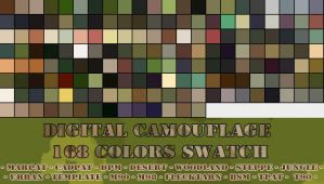 Digital Camouflage Swatch by silver-