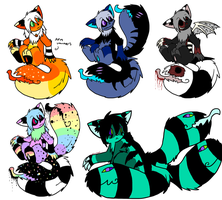 Kinda Spoopy Tailmouth Adopts :CLOSED: by Ink--Beast
