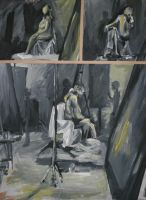 Studies of a Woman in Yellow by YamiRedPen