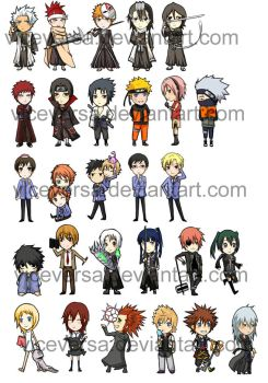 CHIBI KEYCHAINS by twitchhhhh