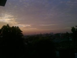 Sunset from my window by abbey1010