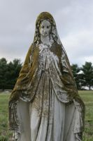 Mary Statue Graveyard by Callalilybeauty