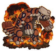 Heatran x Groudon by haha-tommy