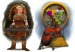 City of Gears: Female Dwarf and Goblin by SC4V3NG3R