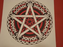 Red and Black Pentacle by Iolair01