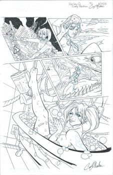 Harley Quinn Talent Search: Pencils and Inks by NarcissusTattoos