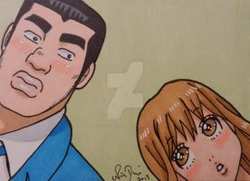Takeo and Rinko ACEO card by LadyNin-Chan
