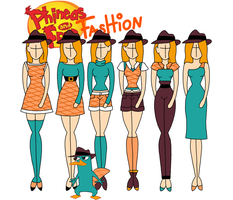 Phineas and Ferb fashion: Perry by Willemijn1991