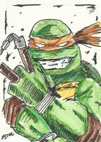 TMNT Mickey Sketch Card by Graymalkin2112