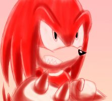 Knuckles Ready To Fight! by SonicForTheWin2