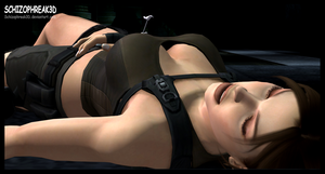 Lara Croft- Sedated 2 by Schizophreak3D
