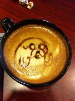 Jake the Dog Latte by Coffee-Katie