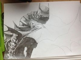Batman in progress by NomCookieNom