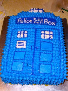 TARDIS Birthday Cake :) by BadWolf212