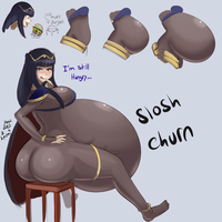 Tharja's Junk Food Binge by Metalforever