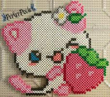 Strawberry Kitty by PerlerPixie