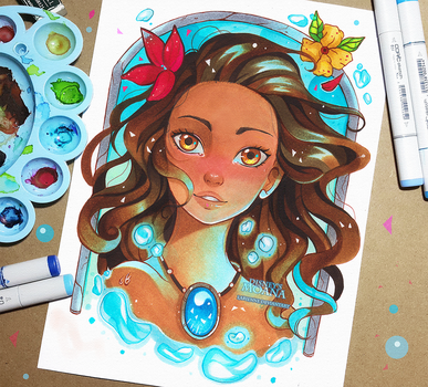 +Moana - How Far I'll Go+ by larienne