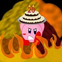 American Kirby's Hardcore Birthday! by LordRobrainiac