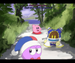 Marx, Magolor, and Kirby Screenshot by Candy-Swirl