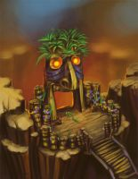 tiki volcano concept by Nightblue-art