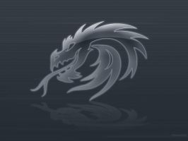Silver Dragon Wallpaper by Sekhi