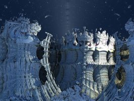 Fall of the Ice Giants by FractalEdi