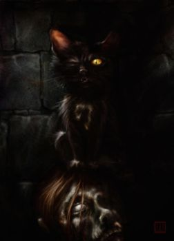 Poe's Black Cat by SKSProps