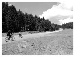 Cycling to the clouds by ylajalik