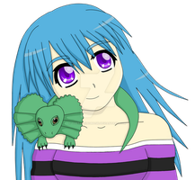 Contest entry: girl with a frill necked lizard :3 by TheTalkingMask