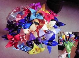Origami Lily Bouquet by Ivy-Juniper