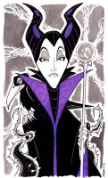 Sketch 056 of 100 MALEFICENT by misfitcorner