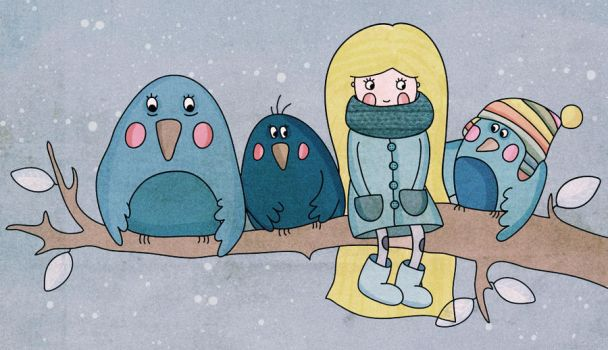 winter birds by lettipaa