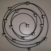 Spiral Circle Candle Holder by Rubyfire14-Stock