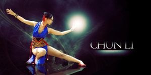 Vanessa Chun Li Desk 1a by jagged-eye