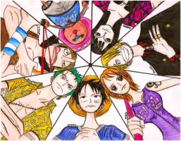 One Piece: Straw hat Crew by devilsxprince