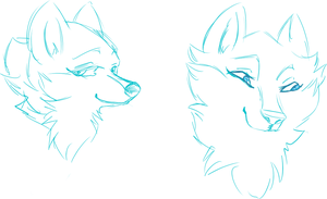 sketching head shots by watchfulshepherd