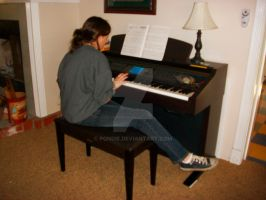 Recline at Piano 2 by pondie