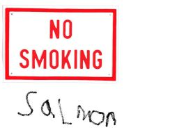 no smoking salmon by combatmetalhead3