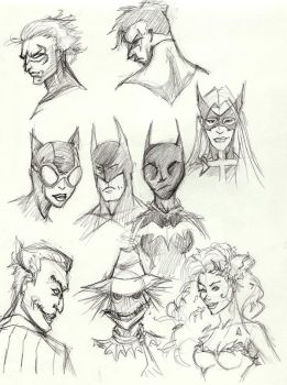 DC Character Sketches by pinaypenciler