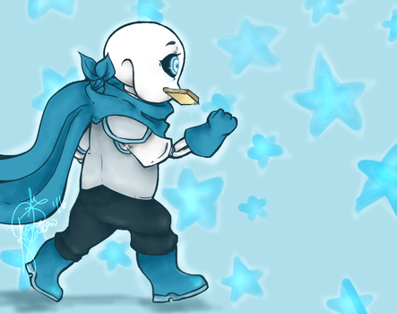 Underswap Sans (candy candy?) by booplebuns