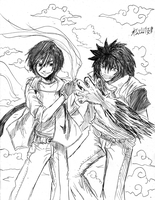 Sketch Commission: Krix and Jin by Pixelated-Takkun