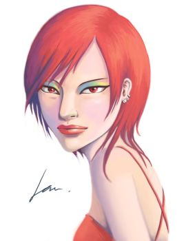 Red Hair by IceAce